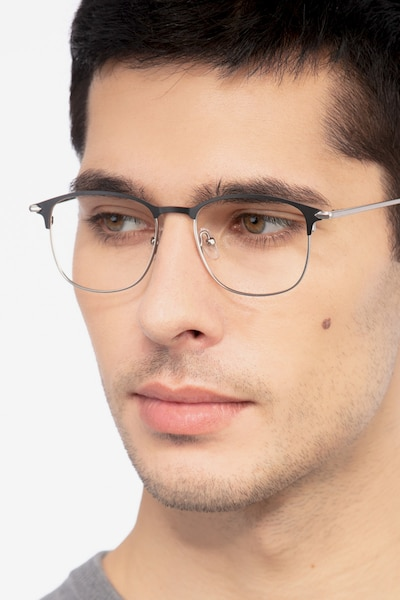 Cella Black Metal Eyeglass Frames for Men from EyeBuyDirect