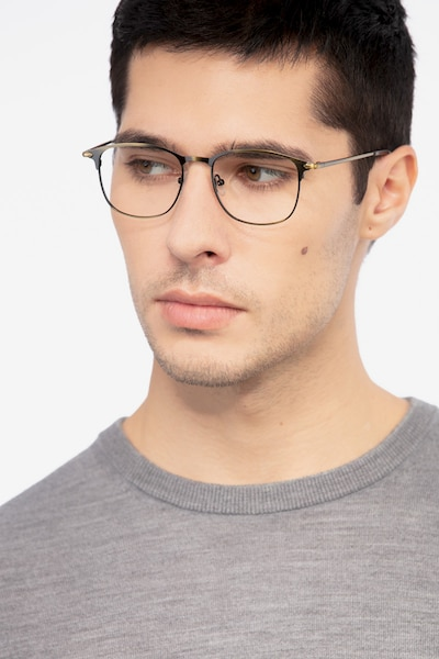 Cella Bronze Metal Eyeglass Frames for Men from EyeBuyDirect, Front View