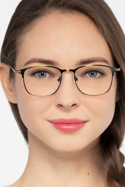 Cella Bronze Metal Eyeglass Frames for Women from EyeBuyDirect