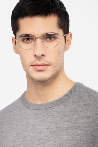 Izabel Golden Metal Eyeglass Frames for Men from EyeBuyDirect, Front View