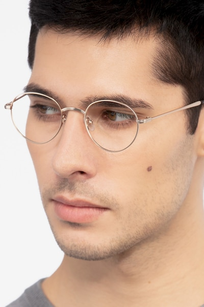 Izabel Golden Metal Eyeglass Frames for Men from EyeBuyDirect