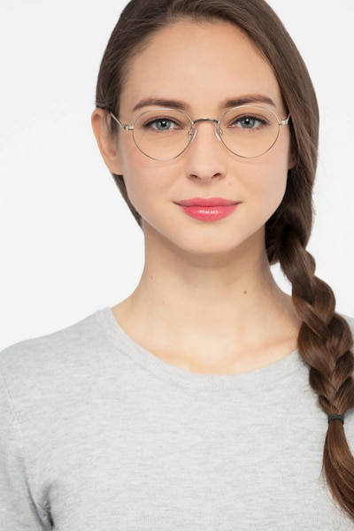 Izabel Golden Metal Eyeglass Frames for Women from EyeBuyDirect, Front View