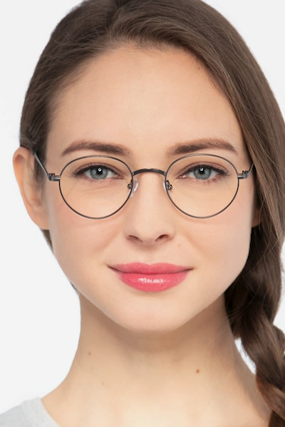 Izabel Gunmetal Metal Eyeglass Frames for Women from EyeBuyDirect