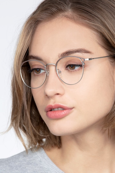Jive Brown Metal Eyeglass Frames for Women from EyeBuyDirect