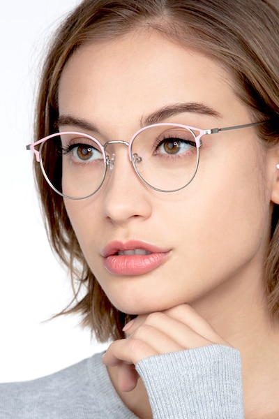 Jive Pink Metal Eyeglass Frames for Women from EyeBuyDirect