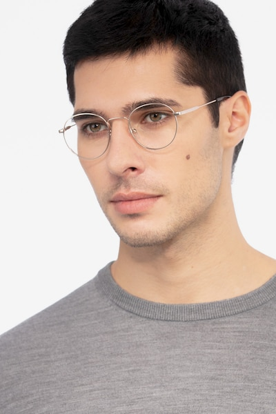 Memento Golden Metal Eyeglass Frames for Men from EyeBuyDirect