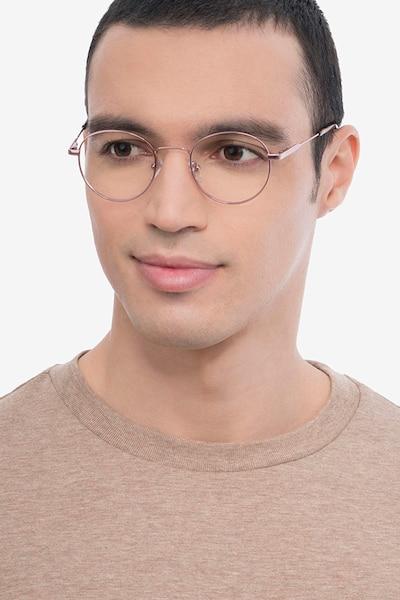 Memento Rose Gold Metal Eyeglass Frames for Men from EyeBuyDirect