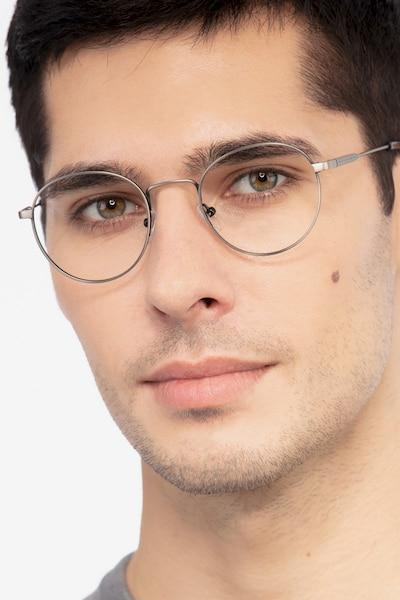 Memento Gunmetal Metal Eyeglass Frames for Men from EyeBuyDirect