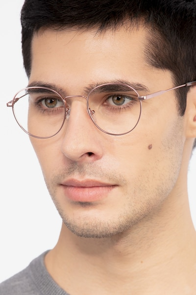 Memento Pink Golden Metal Eyeglass Frames for Men from EyeBuyDirect