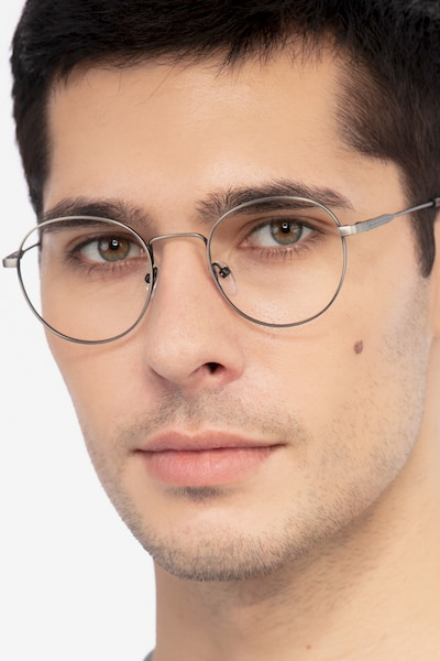 Memento Gunmetal Metal Eyeglass Frames for Men from EyeBuyDirect