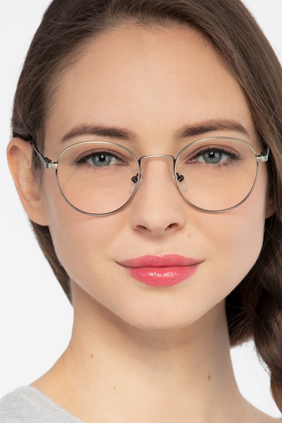 Memento Gunmetal Metal Eyeglass Frames for Women from EyeBuyDirect