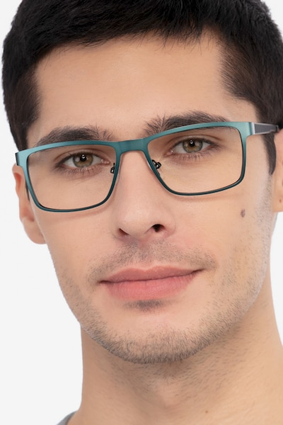 Bemuse Green  Metal Eyeglass Frames for Men from EyeBuyDirect