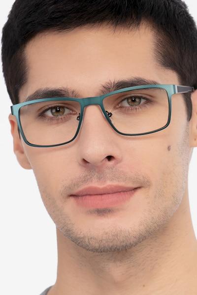 Bemuse Green  Métal Montures de Lunettes pour Hommes d'EyeBuyDirect
