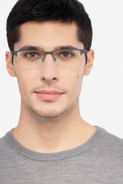 Vine Green  Métal Montures de Lunettes pour Hommes d'EyeBuyDirect, Vue de Face