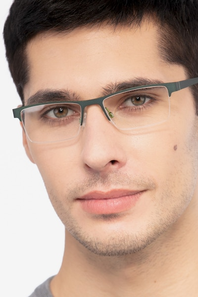 Vine Green  Metal Eyeglass Frames for Men from EyeBuyDirect