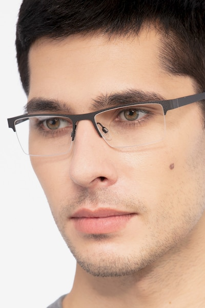 Vine Black Metal Eyeglass Frames for Men from EyeBuyDirect