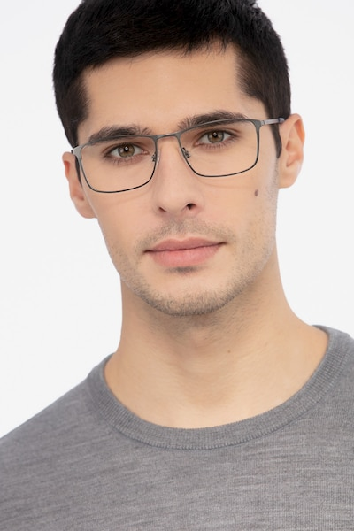 Daytona Gunmetal Metal Eyeglass Frames for Men from EyeBuyDirect