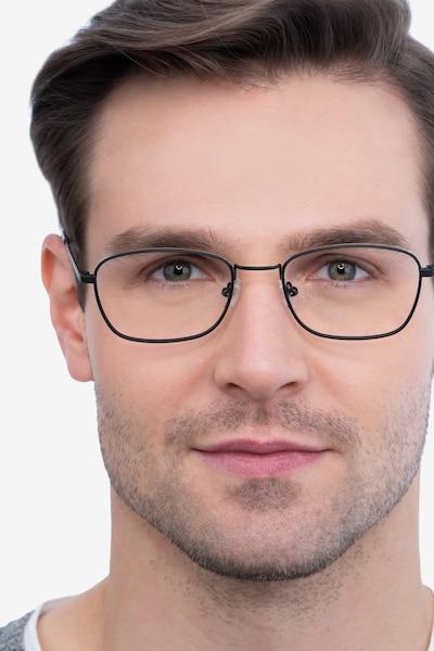 Verse Black Metal Eyeglass Frames for Men from EyeBuyDirect