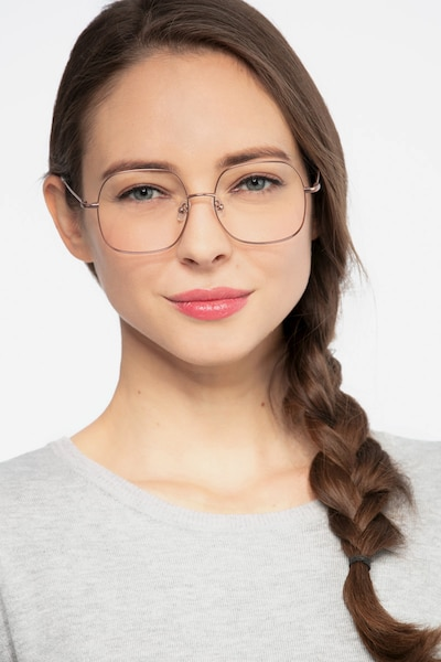 Movement Rose Golden Metal Eyeglass Frames for Women from EyeBuyDirect