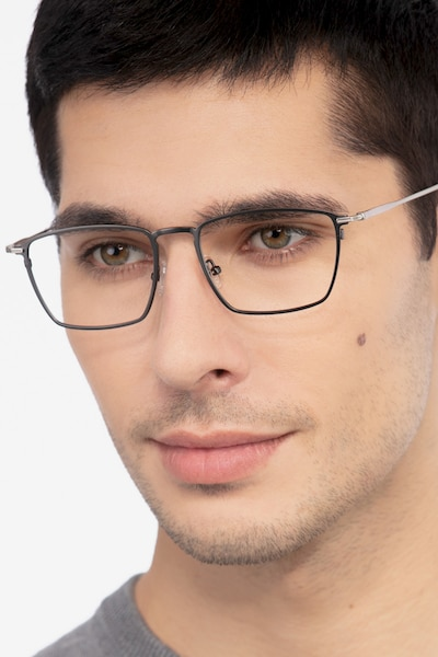 Wind Gunmetal Metal Eyeglass Frames for Men from EyeBuyDirect