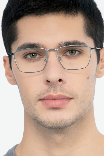 Wind Silver Metal Eyeglass Frames for Men from EyeBuyDirect