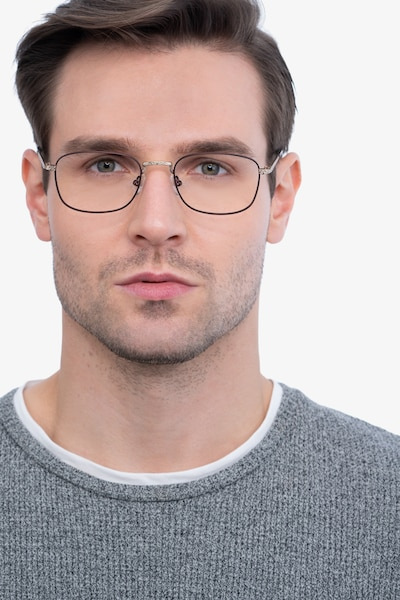 Tampa Red Metal Eyeglass Frames for Men from EyeBuyDirect, Front View