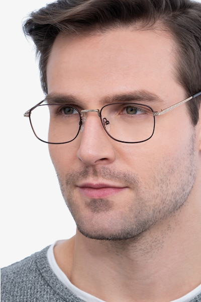 Tampa Red Metal Eyeglass Frames for Men from EyeBuyDirect
