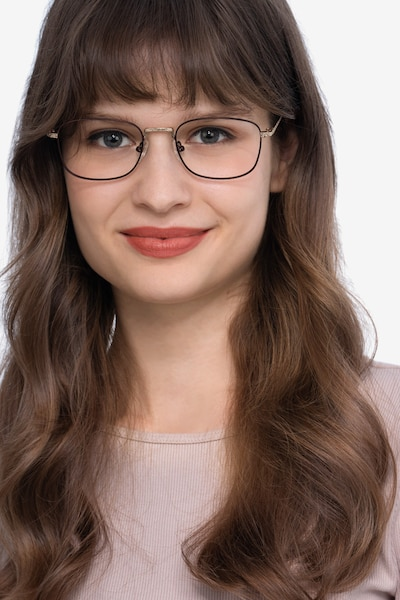 Tampa Red Metal Eyeglass Frames for Women from EyeBuyDirect, Front View