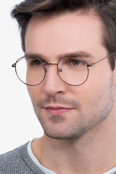 Dapper Coffee Metal Eyeglass Frames for Men from EyeBuyDirect