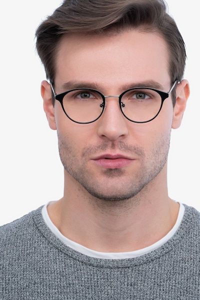 Broadway Black Metal Eyeglass Frames for Men from EyeBuyDirect