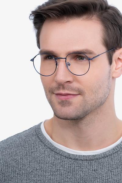 Novel Navy Metal Eyeglass Frames for Men from EyeBuyDirect