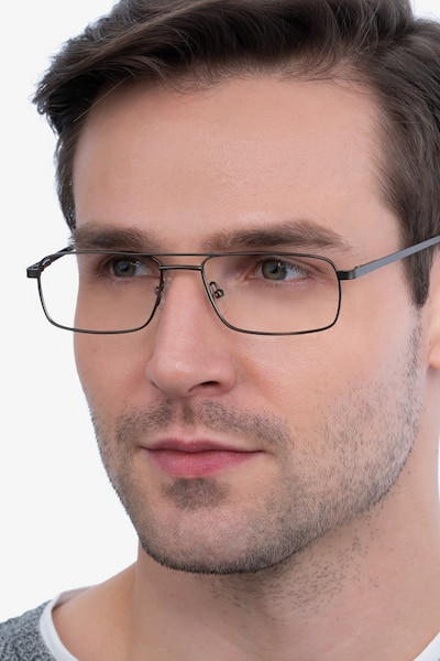 Maverick Brown Metal Eyeglass Frames for Men from EyeBuyDirect
