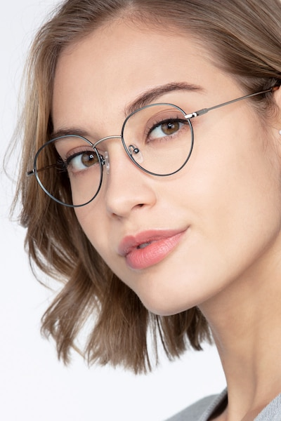 Retell Green Metal Eyeglass Frames for Women from EyeBuyDirect