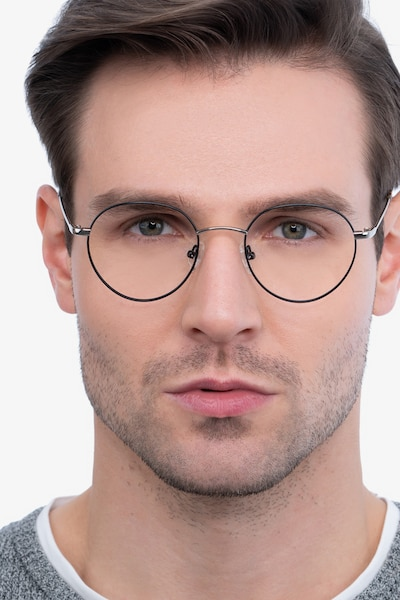 Retell Black Metal Eyeglass Frames for Men from EyeBuyDirect