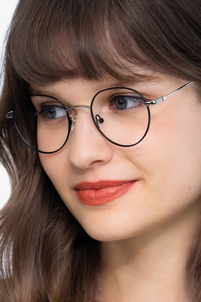Retell Black Metal Eyeglass Frames for Women from EyeBuyDirect