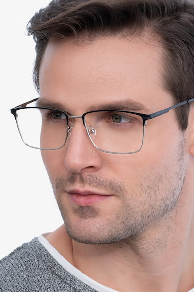 Castle Black Metal Eyeglass Frames for Men from EyeBuyDirect