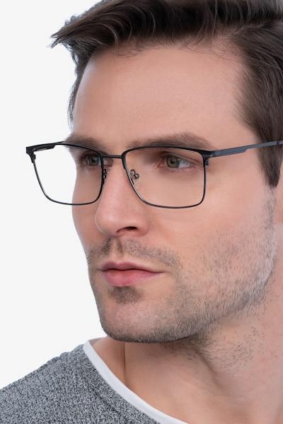Castle Gunmetal Metal Eyeglass Frames for Men from EyeBuyDirect