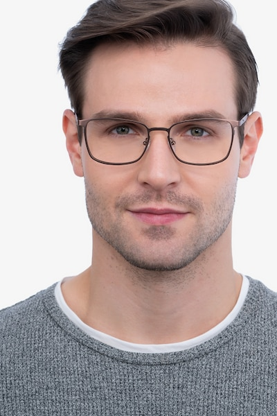 Dakota Brown Metal Eyeglass Frames for Men from EyeBuyDirect