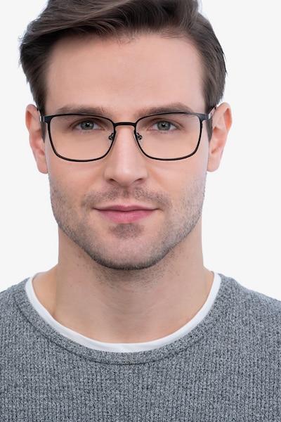 Dakota Gunmetal Metal Eyeglass Frames for Men from EyeBuyDirect, Front View