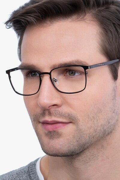 Dakota Gunmetal Metal Eyeglass Frames for Men from EyeBuyDirect