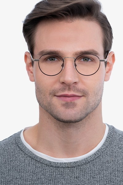 Orbit Brown Acetate-metal Eyeglass Frames for Men from EyeBuyDirect, Front View