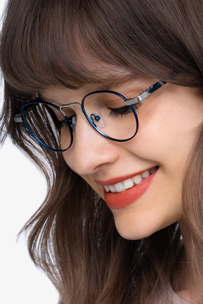 Orbit Blue Acetate-metal Eyeglass Frames for Women from EyeBuyDirect