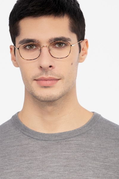 Fortune Tortoise Metal Eyeglass Frames for Men from EyeBuyDirect, Front View