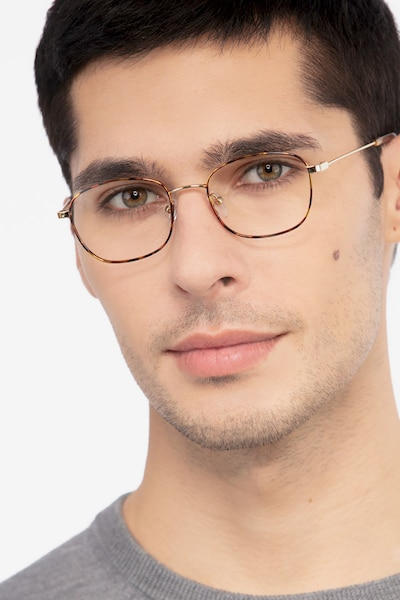 Fortune Tortoise Metal Eyeglass Frames for Men from EyeBuyDirect