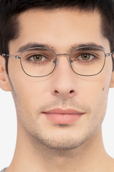 Fortune Gunmetal Metal Eyeglass Frames for Men from EyeBuyDirect
