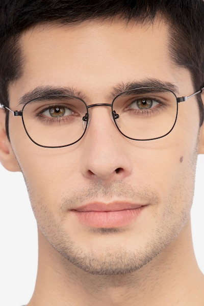 Fortune Black Metal Eyeglass Frames for Men from EyeBuyDirect