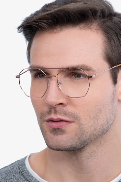 Eight Rose Gold Metal Eyeglass Frames for Men from EyeBuyDirect