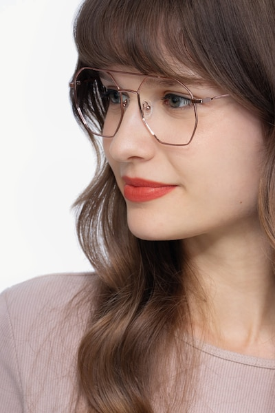 Eight Rose Gold Metal Eyeglass Frames for Women from EyeBuyDirect