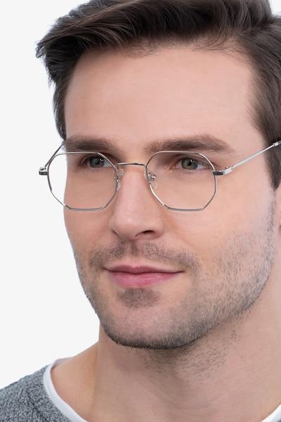 Soar Silver Metal Eyeglass Frames for Men from EyeBuyDirect