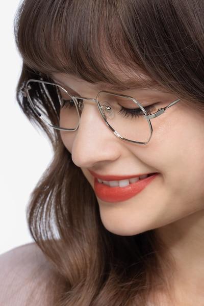 Soar Silver Metal Eyeglass Frames for Women from EyeBuyDirect